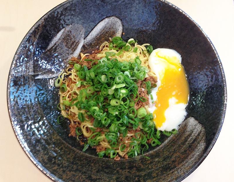 汁なし担担麺 (熟成醤油) 武蔵坊 横川店