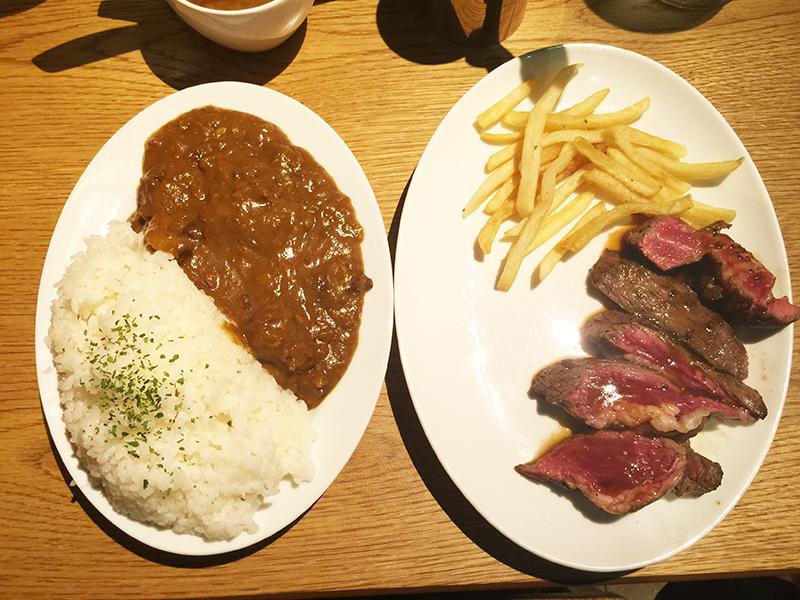 肉バル EG レアステーキランチ (カレー)