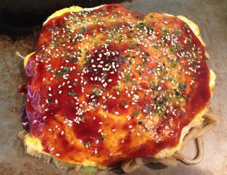 BANANA お好み焼き(かす・ホルモン揚げ入り)