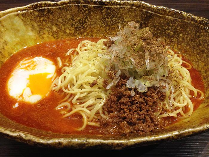 國松 汁なし担々麺(カレー味)